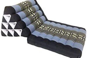 Cojín de meditación relleno de kapok